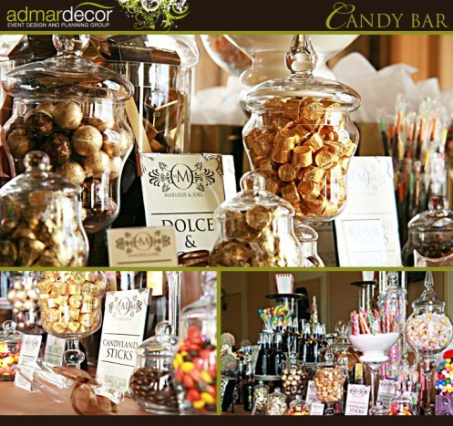 Candy candy candy how sweet it is reception for Candy bar for weddings receptions